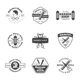 Hairdress Logo Set Royalty Free Stock Images