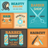 Hairdress Poster Set Royalty Free Stock Photos