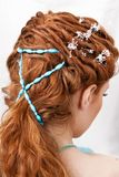 Hairdress of the red-haired girl Royalty Free Stock Photo