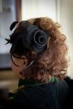 Hairdress w retro stylu Zdjęcia Royalty Free