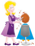 Hairdresser. Isolated clipart illustration of a working hairdresser royalty free illustration