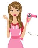 Hairdresser. A beautiful hairdresser at work vector illustration