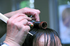 At the hairdresser Royalty Free Stock Images