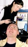 Hairdresser. Washing hair Royalty Free Stock Photo