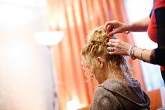 At a hairdresser Stock Photos