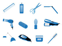 Hairdresser accessories Stock Image
