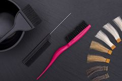 Hairdresser Accessories for coloring hair Royalty Free Stock Photography