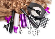 Hairdresser Accessories Royalty Free Stock Photos