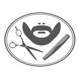 Hairdresser barber label. Stock Image