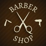 Hairdresser barber shop poster Stock Photography