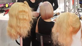 Hairdresser stock footage
