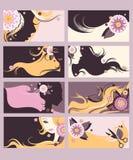 Hairdresser calling cards set Stock Photo