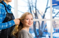 Hairdresser and client Stock Photos