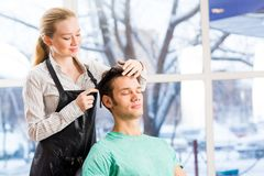 Hairdresser and client Stock Photography
