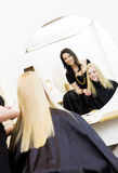 Hairdresser and customer Royalty Free Stock Images