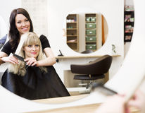 Hairdresser and customer Royalty Free Stock Photo