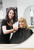 Hairdresser and customer Stock Photography