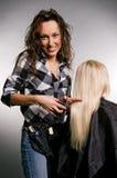 Hairdresser doing her job Royalty Free Stock Images