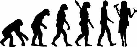 Hairdresser Evolution. Vector occupation vector Stock Images