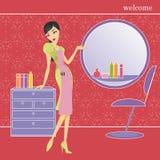 Hairdresser girl Stock Images
