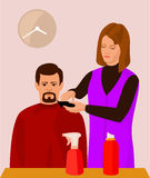 Hairdresser and her client Royalty Free Stock Image