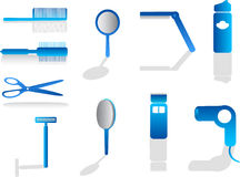 Hairdresser icons Stock Photography