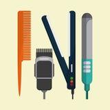 Hairdresser icons design Stock Image