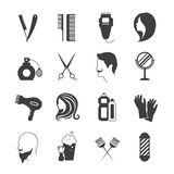 Hairdresser Icons Set Stock Images