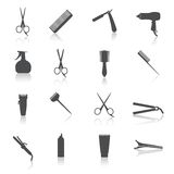 Hairdresser Icons Set. Hairdresser  styling accessories professional haircut icon set isolated vector illustration Stock Photo