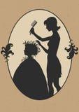 Hairdresser. Illustration of hairdresser at work royalty free illustration