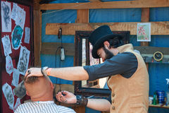 Free Hairdresser In The Cylinder Cap Royalty Free Stock Image - 97618906