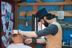 Free Hairdresser In The Cylinder Cap Royalty Free Stock Photography - 97731167