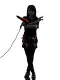 Hairdresser make up artist woman silhouette Stock Photo