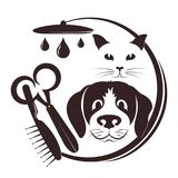 Hairdresser for pets. Symbol with a tool vector illustration