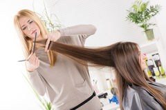 At the hairdresser's. Royalty Free Stock Photography