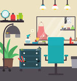 Hairdresser's interior  illustration Royalty Free Stock Image