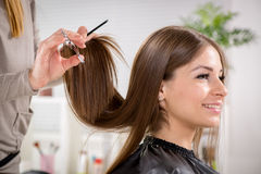 At The Hairdresser's Stock Image