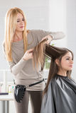 At The Hairdresser's Royalty Free Stock Images