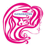 Hairdresser salon logo Royalty Free Stock Photography