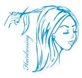 Hairdresser salon logo Stock Photography