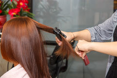 Hairdresser salon. Women in hairdresser salon Royalty Free Stock Photo