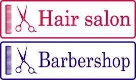 Hairdresser signboaard Stock Photos