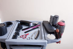 Hairdresser tools Stock Photo