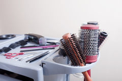 Hairdresser tools Royalty Free Stock Photos