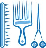 Hairdresser Tools Royalty Free Stock Photography