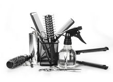 Hairdresser tools Stock Image