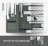 Hairdresser Tri-Fold  Brochure Royalty Free Stock Image