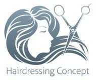 Hairdresser Woman Scissor Concept Stock Images
