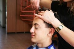 Hairdresser work Royalty Free Stock Images