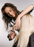 Hairdresser in work Stock Photos